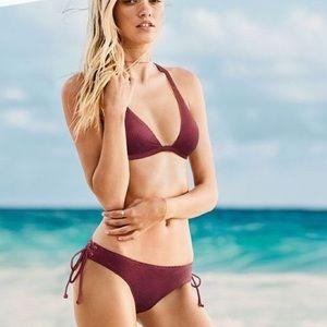 Victoria's Secret PINK Venetian Red bikini set